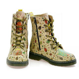GOBY Cute Insects Long Boots MRT118 Women Long Boots Shoes - Goby Shoes UK
