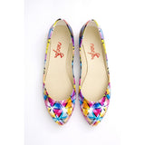 Colored Triangles Ballerinas Shoes NSS360 - Goby NEEFS Ballerinas Shoes