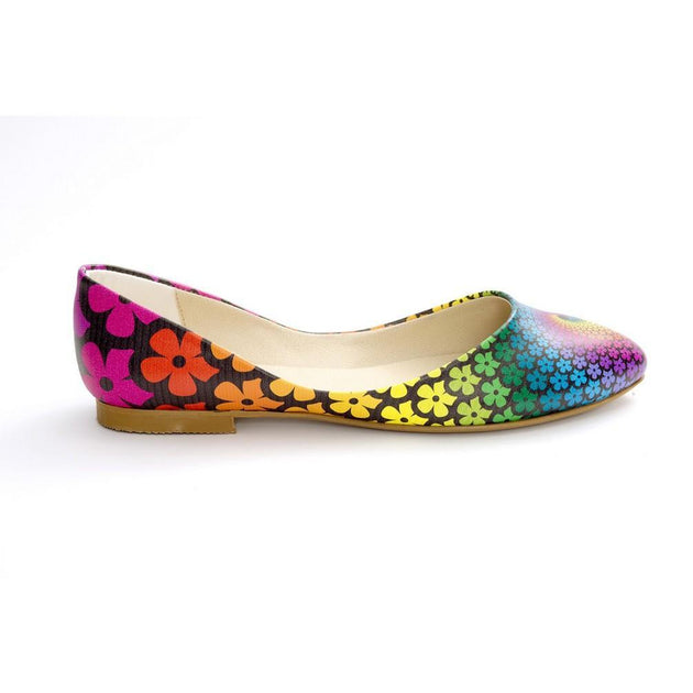 Colored Flowers Ballerinas Shoes NSS361, Goby, NEEFS Ballerinas Shoes
