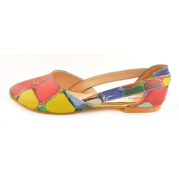 Colored Stones Ballerinas Shoes OMR7001 - Goby GOBY Ballerinas Shoes