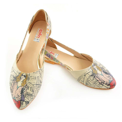 Goby OMR7004 Fashion Girl Ballerinas Shoes Women Ballerinas Shoes - Goby Shoes UK