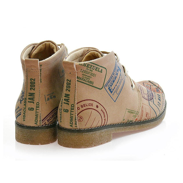 Postage stamps Ankle Boots PH112