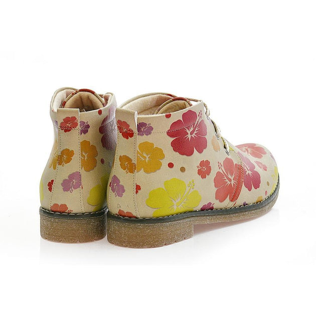 GOBY Flowers Ankle Boots PH201 Women Ankle Boots Shoes - Goby Shoes UK