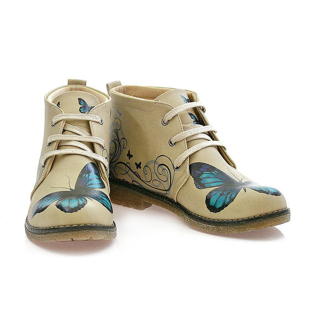 Goby PH203 Butterfly Ankle Boots Women Boots Shoes - Goby Shoes UK