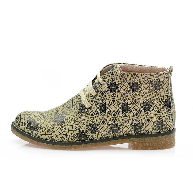 GOBY Pattern Ankle Boots PH208 Women Boots Shoes - Goby Shoes UK