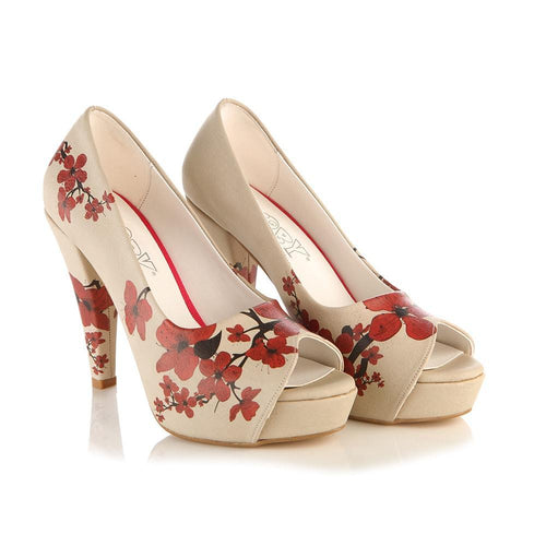 Outleet Sakura Heel Shoes PLT2043 - Only UK- No Exchange or No Return