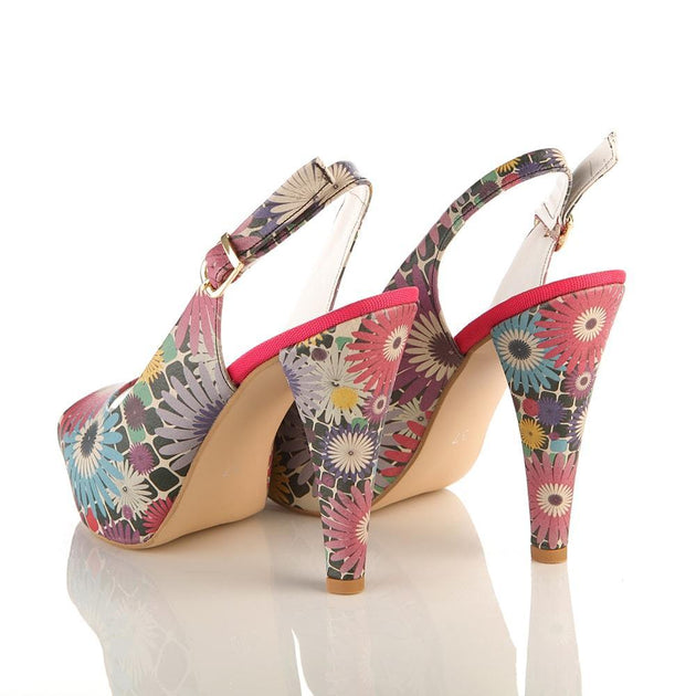 Flowers Heel Shoes PLT2048