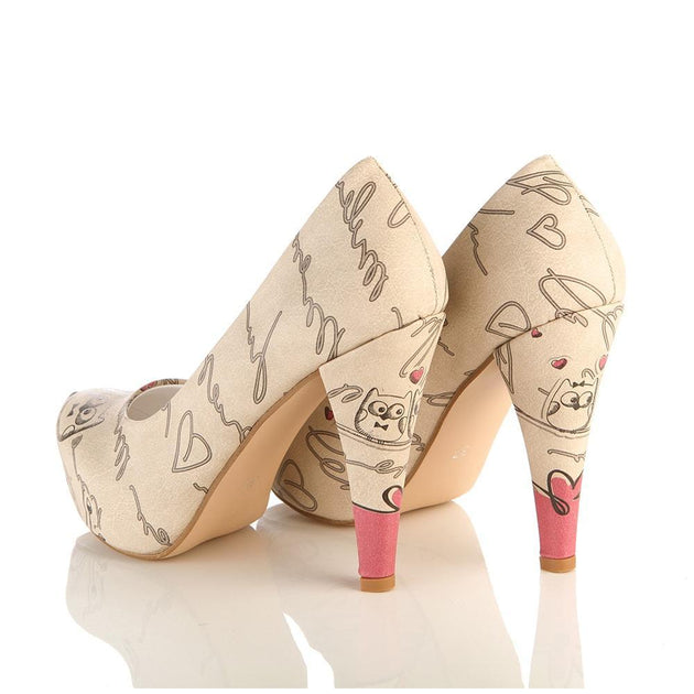 Cute Owl Heel Shoes PLT2052