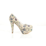 Flowers Heel Shoes PLT2011