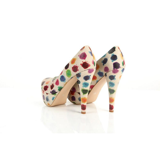 Colored Dots Heel Shoes PLT2020