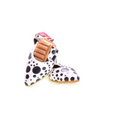 Black Dots Ballerinas Shoes RAS2506, Goby, RASPBERRY Ballerinas Shoes