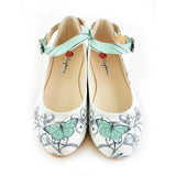 Ballerinas Shoes RKB102, Goby, RASPBERRY Ballerinas Shoes