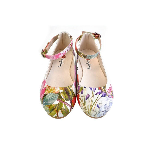 Ballerinas Shoes RKB106, Goby, RASPBERRY Ballerinas Shoes