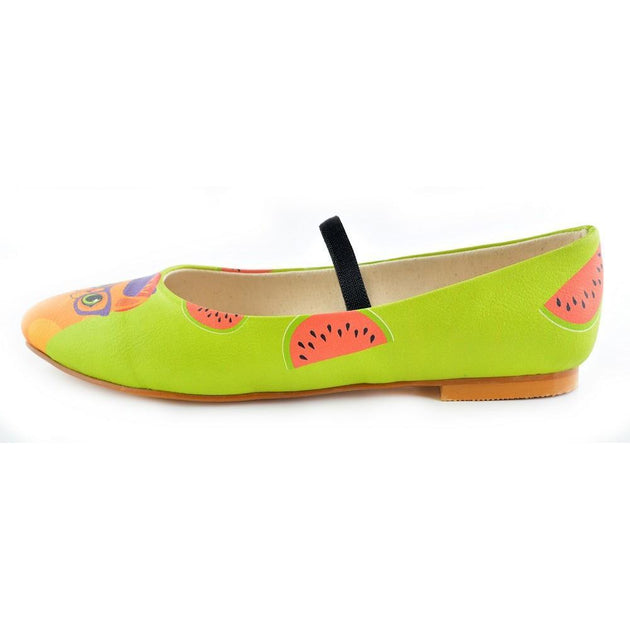 Ballerinas Shoes RLB106, Goby, RASPBERRY Ballerinas Shoes