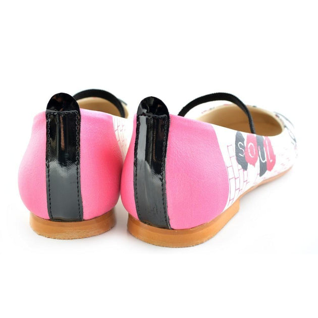 Ballerinas Shoes RLB108, Goby, RASPBERRY Ballerinas Shoes