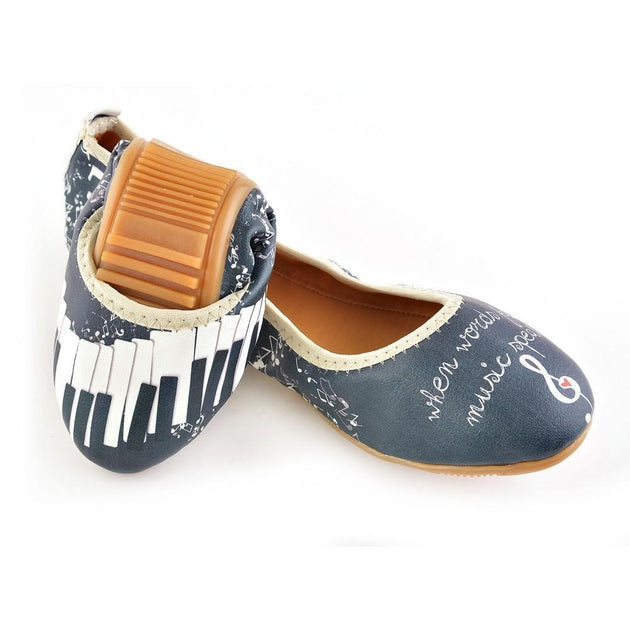 Music Speaks Ballerinas Shoes RSP309