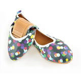 Colored Dots Ballerinas Shoes RSP311, Goby, RASPBERRY Ballerinas Shoes