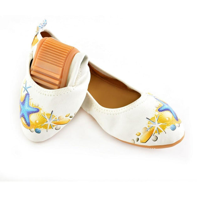 Beach Ballerinas Shoes RSP330, Goby, RASPBERRY Ballerinas Shoes