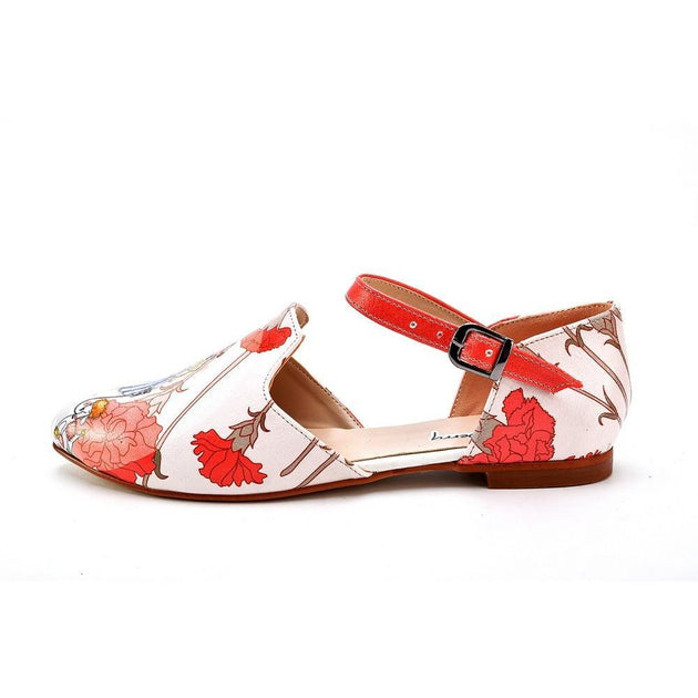 Ballerinas Shoes RYB110, Goby, RASPBERRY Ballerinas Shoes