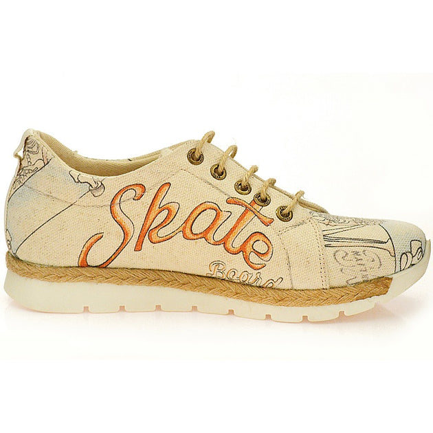 Goby SHR100 Skate Board Women Sneakers Shoes - Goby Shoes UK