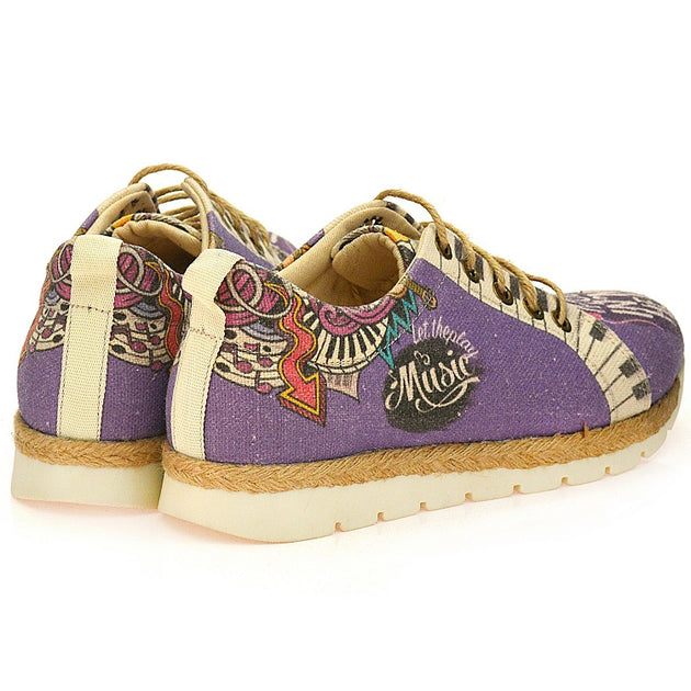 Goby SHR101 Admiration of Music Women Sneakers Shoes - Goby Shoes UK