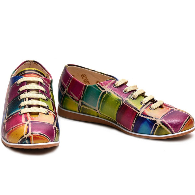 Goby SLV19 Colored Stones Women Ballerinas Shoes - Goby Shoes UK