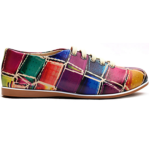 Goby SLV19 Colored Stones Women Oxford Shoes - Goby Shoes UK