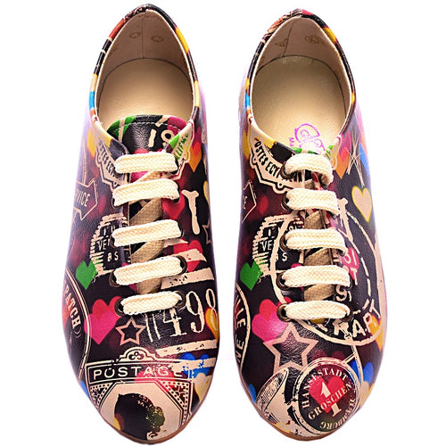 Goby SLV22 Colored Hearts Women Oxford Shoes - Goby Shoes UK