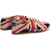 Goby SLV47 Flag Women Ballerinas Shoes - Goby Shoes UK