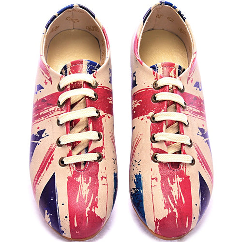 Goby SLV47 Flag Women Oxford Shoes - Goby Shoes UK