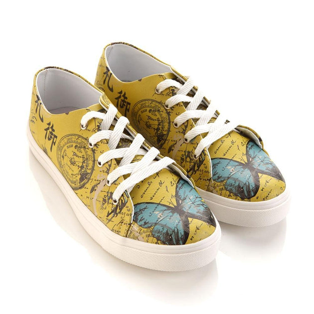 GOBY Butterfly Slip on Sneakers Shoes SPR5001 Women Sneakers Shoes - Goby Shoes UK