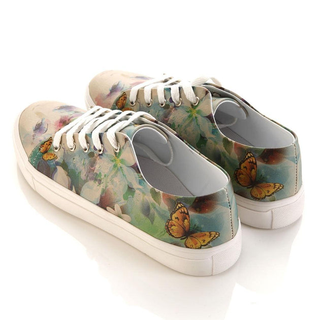 GOBY Flower Woman Slip on Sneakers Shoes SPR5003 Women Sneakers Shoes - Goby Shoes UK