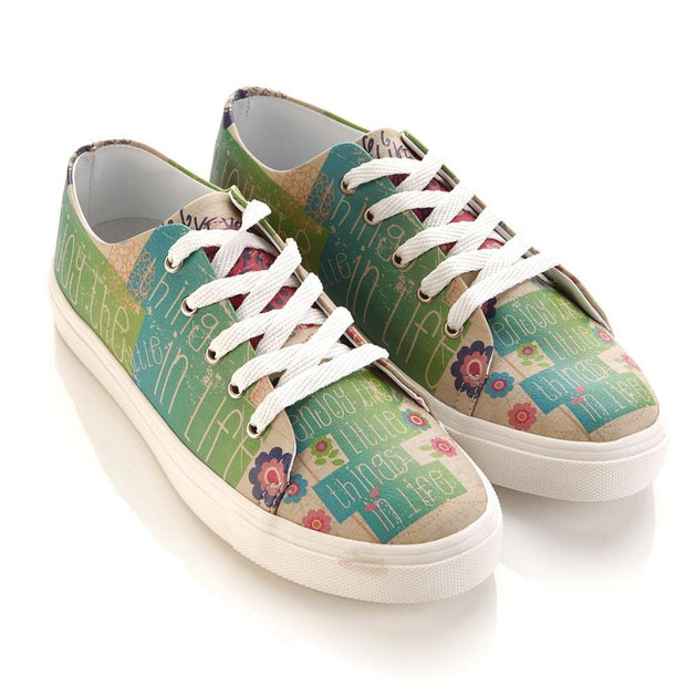 GOBY Flowers Slip on Sneakers Shoes SPR5007 Women Sneakers Shoes - Goby Shoes UK