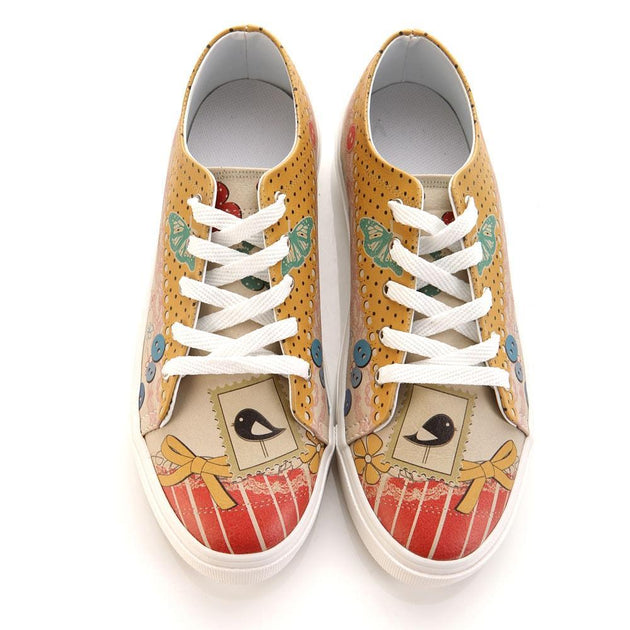 GOBY Cute Bird Slip on Sneakers Shoes SPR5009 Women Sneakers Shoes - Goby Shoes UK