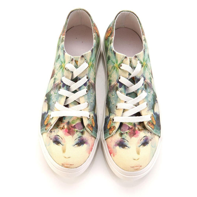 GOBY Flower Woman Slip on Sneakers Shoes SPR5409 Women Sneakers Shoes - Goby Shoes UK