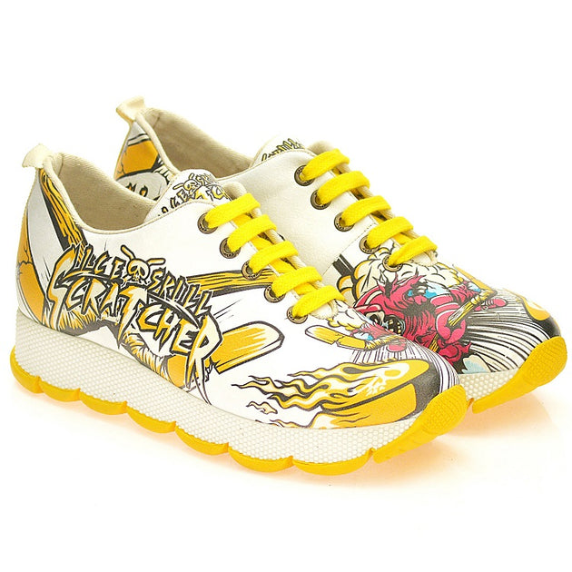 Goby SPS202 Ice Skull Scratcher Women Sneakers Shoes - Goby Shoes UK