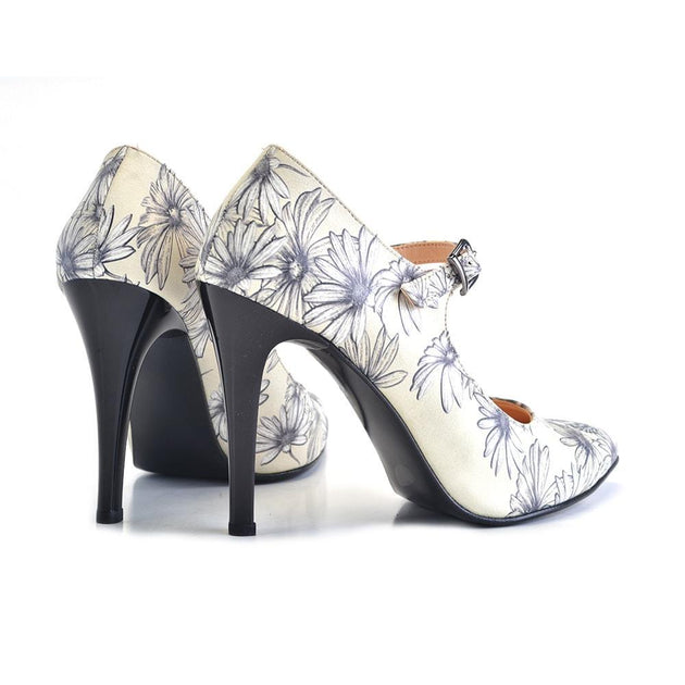 Daisy and Butterfly Heel Shoes STK104