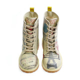 Goby TMB1011 Army Airplane Long Boots Women Boots Shoes - Goby Shoes UK