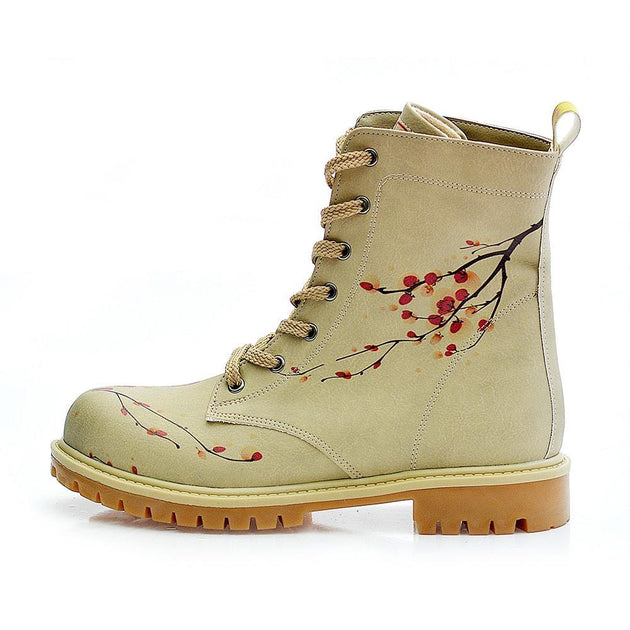 GOBY Cherry Blossom Long Boots TMB1012 Women Long Boots Shoes - Goby Shoes UK