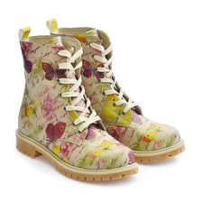 GOBY Flowers and Butterfly Long Boots TMB1016 Women Long Boots Shoes - Goby Shoes UK