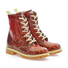 Red Dots Long Boots TMB1019