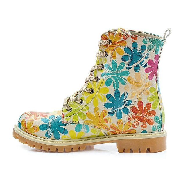 GOBY Flowers Long Boots TMB1021 Women Long Boots Shoes - Goby Shoes UK