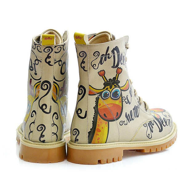 GOBY Confused Giraffe Long Boots TMB1029 Women Long Boots Shoes - Goby Shoes UK
