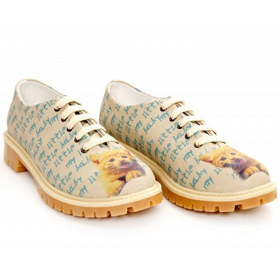 Goby TMK6501 Little Cat Women Oxford Shoes - Goby Shoes UK