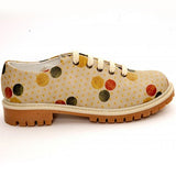 Goby TMK6503 Colored Dots Women Oxford Shoes - Goby Shoes UK