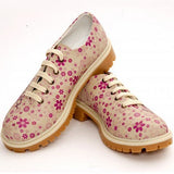 Goby TMK6505 Lovely Flower Women Oxford Shoes - Goby Shoes UK