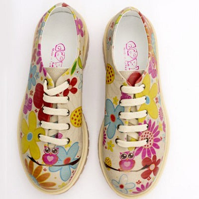 Goby TMK6509 Sweet Owl Women Oxford Shoes - Goby Shoes UK