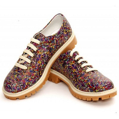 Goby TMK6511 Pattern Women Oxford Shoes - Goby Shoes UK