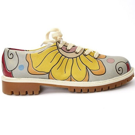 Goby TMK6513 Flowers Women Oxford Shoes - Goby Shoes UK