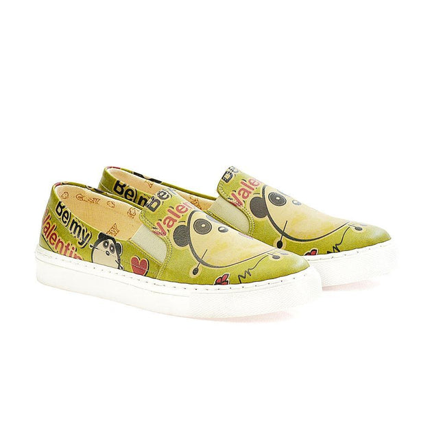 GOBY Be My Valentine Slip on Sneakers Shoes VN4001 Women Sneakers Shoes - Goby Shoes UK